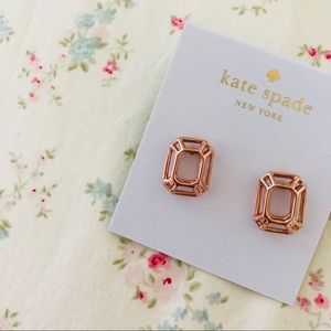 Kate Spade rose gold earrings